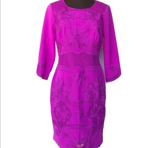 Antonio Melani Women Purple Crew Neck Dress SZ 4